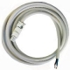 Finder 07L01 cable 2m with white clutch, (female) for AC lamp