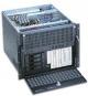 GH Industrial GH-800SX 8U, ATX 2x400W, 7x13,3 cm ( 5,2 Zoll ) ,1x8,9 cm ( 3,5 Zoll ) , 5 L., 7 Slot, inkl. Thermocontrolle, 4x90mm Hot-Swap, black