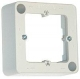 BTR mounting frame 130829-01 I, 85x85mm 1-fold pearl white