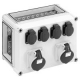 Spelsberg 01049001 GTV 490 socket IP44, 320x220x179mm 4xSchuko 2xCEE 16A 5-pole